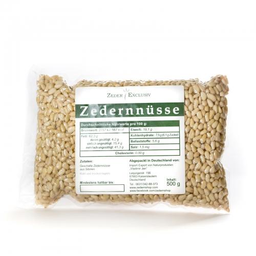 Zedernnüsse 500 g, geschält