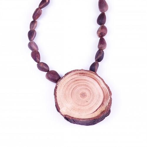 Necklace with Cedar Wood Pendant