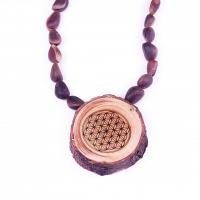 Halskette mit Zedernholzanhänger «Blume des Lebens»
